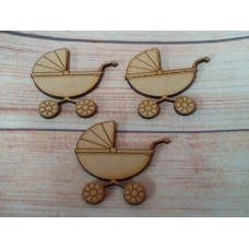 Laser cut Pram pack of 1